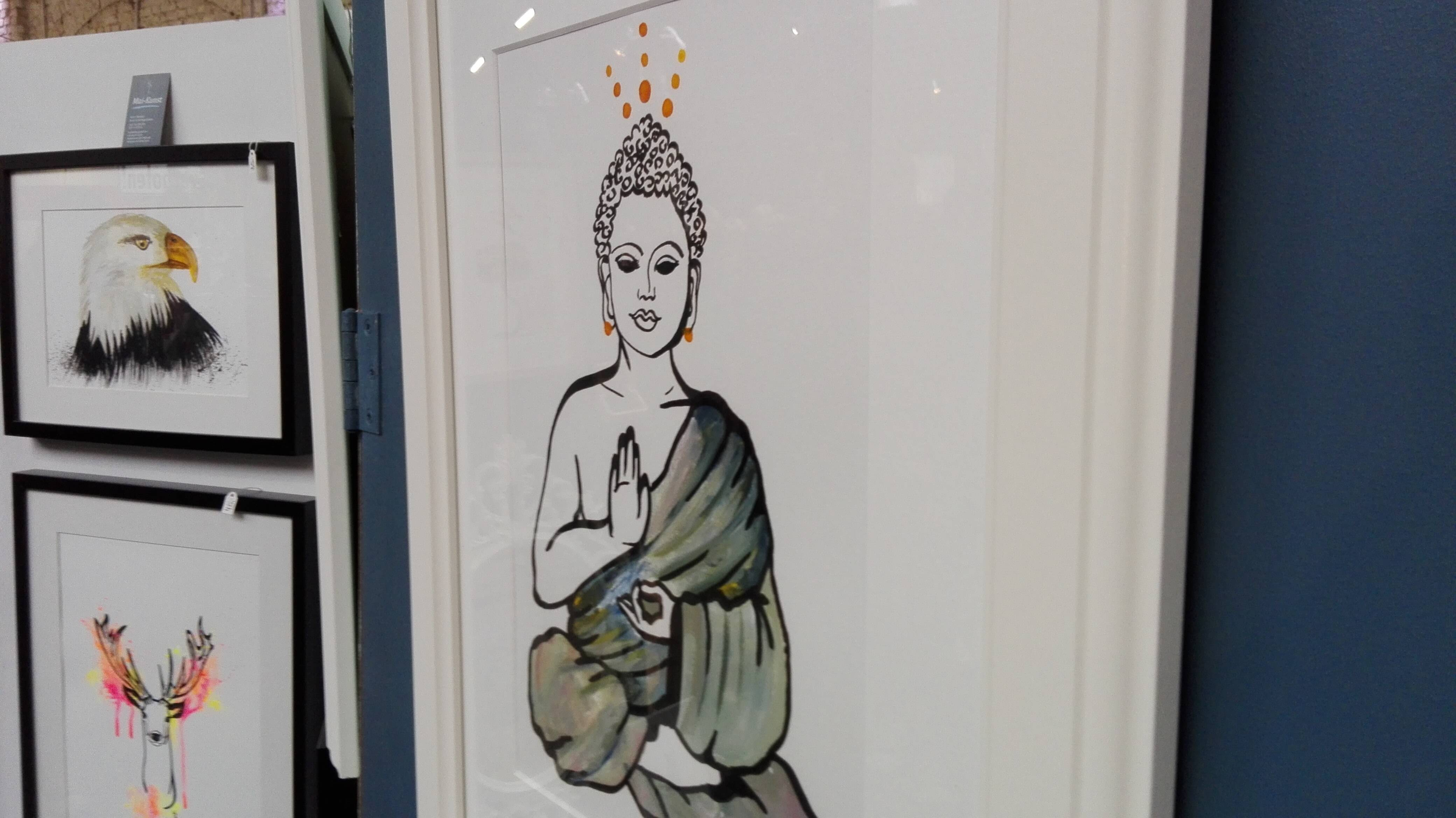 Buddha Bild Ausstellung
