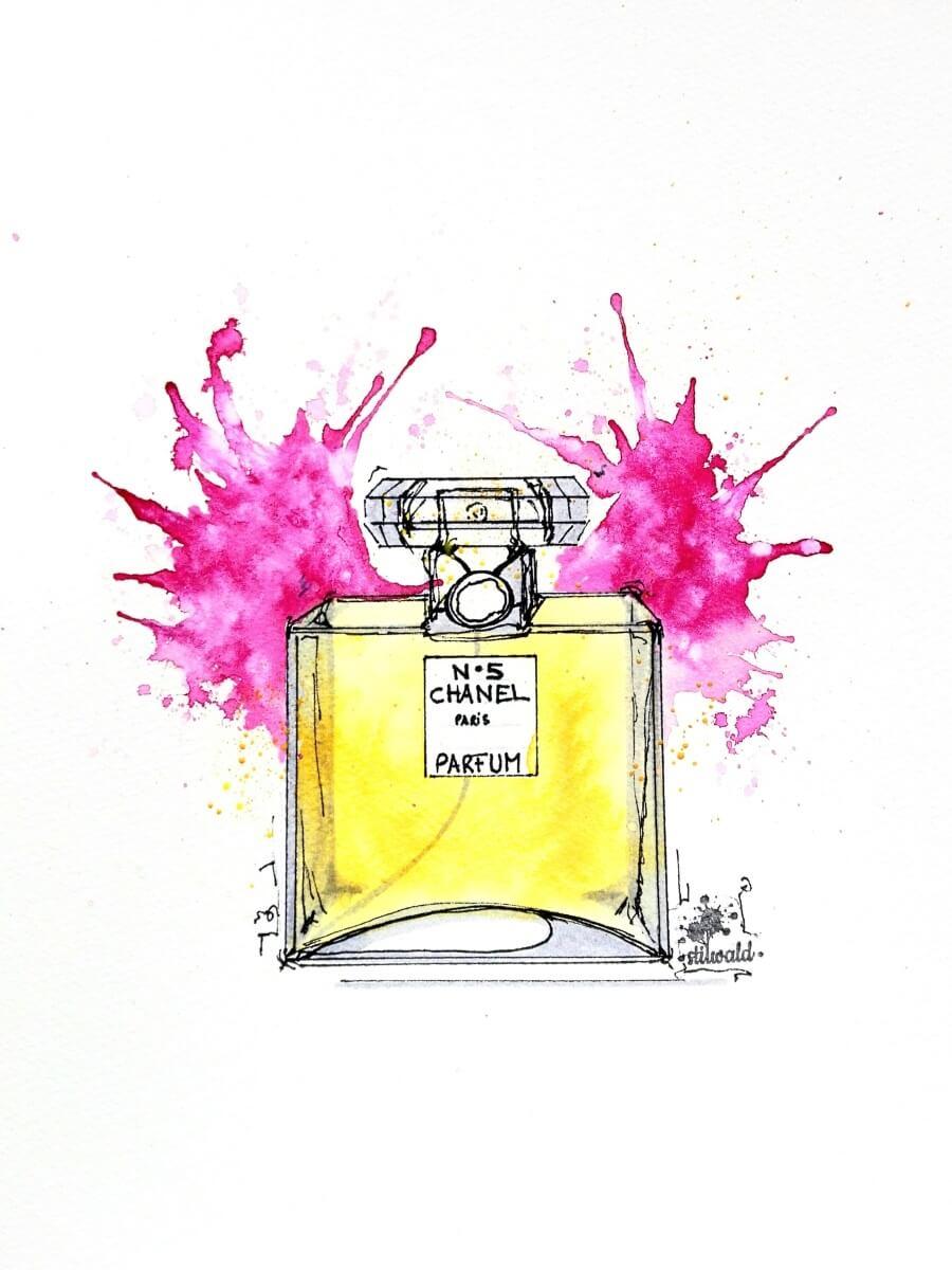 chanel parfum gemalt