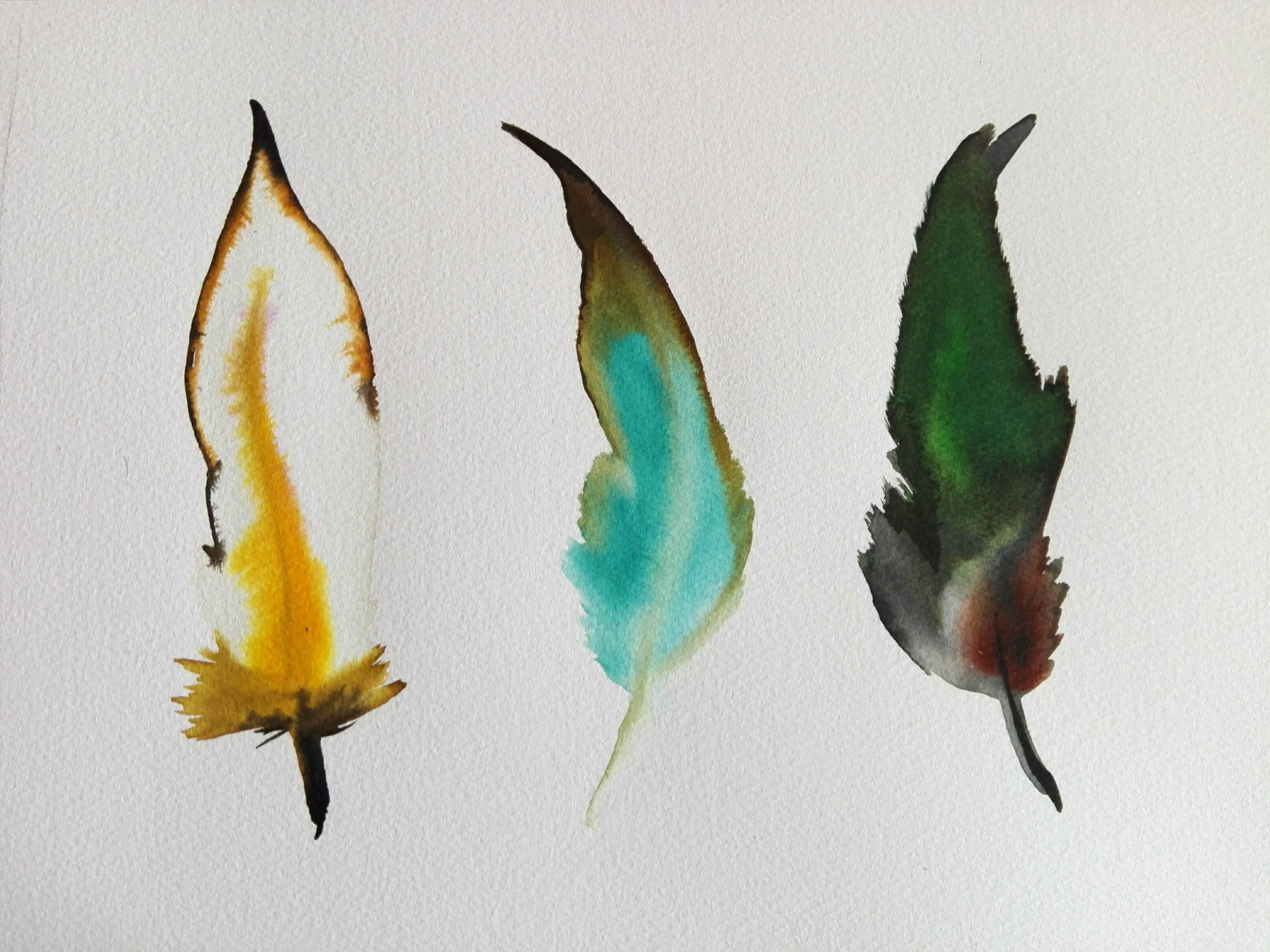 Federn gemalt