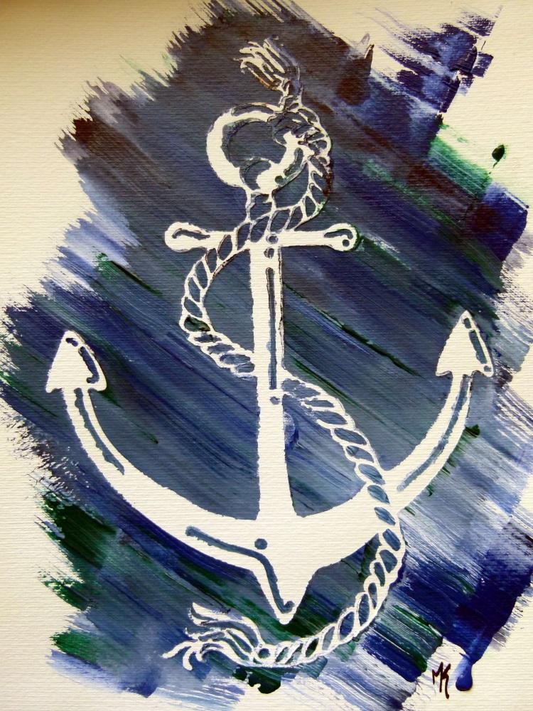 anker sea blau blue anchor paint
