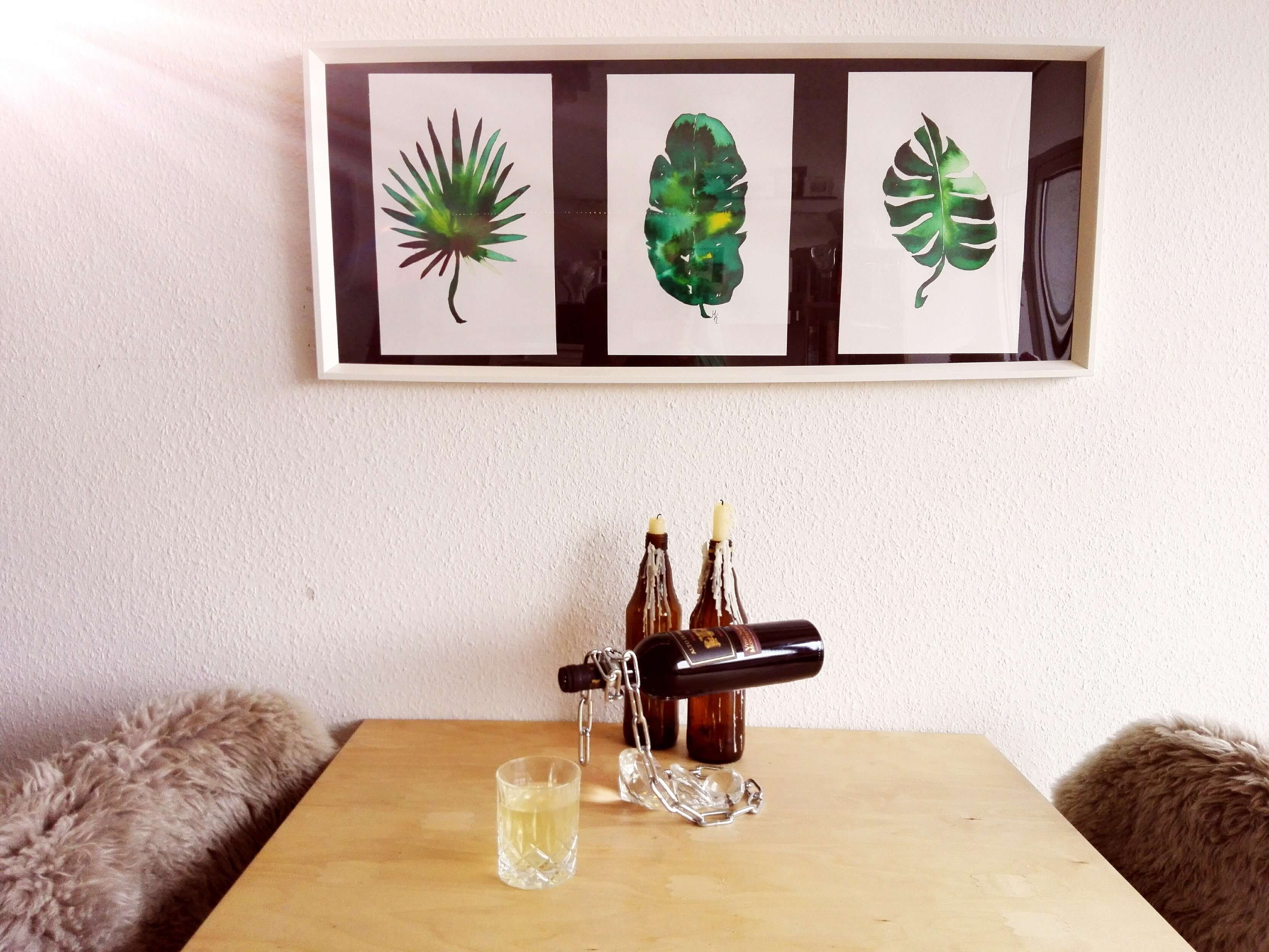 Tropische Blätter Kunst
