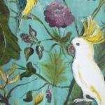 tropischer vogel vintage
