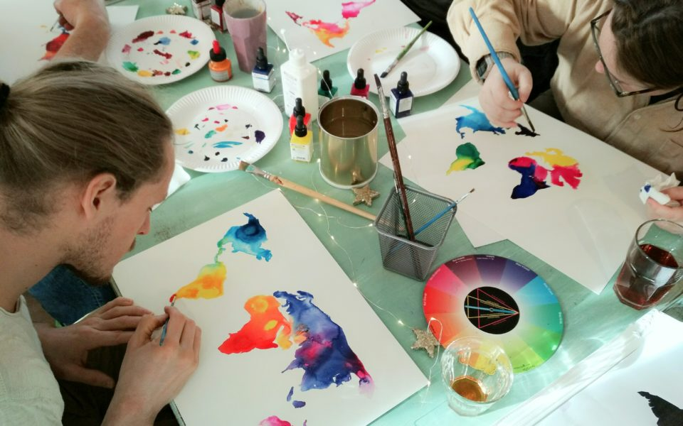 Kunst workshop malen