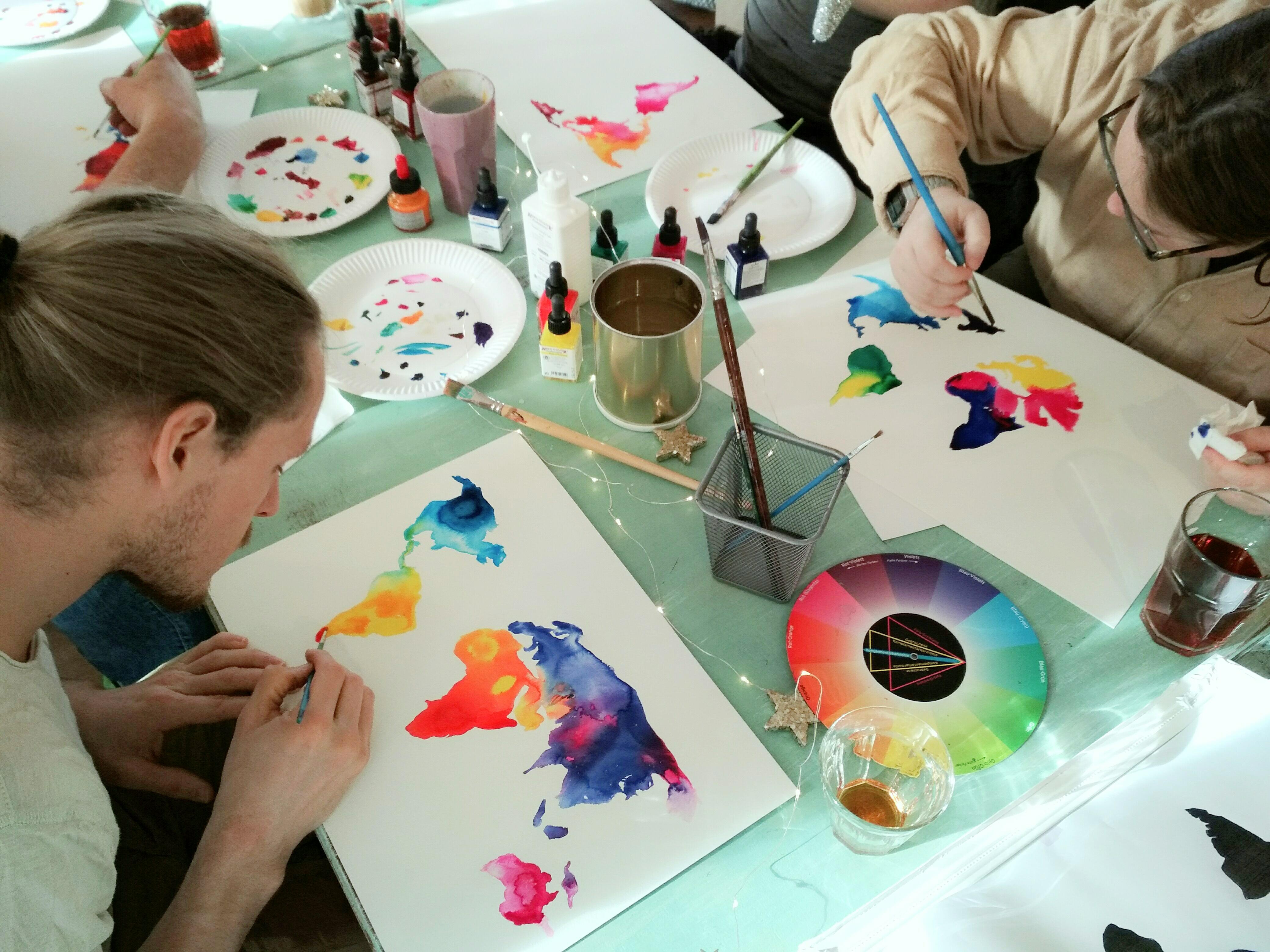 Kunst workshop malen