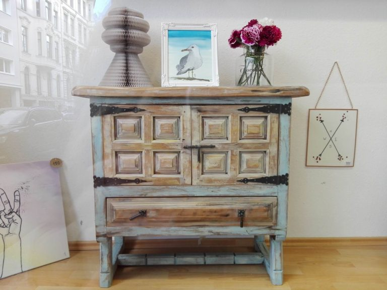 Kommode Shabby Chic Look upcycling Möbeldesign