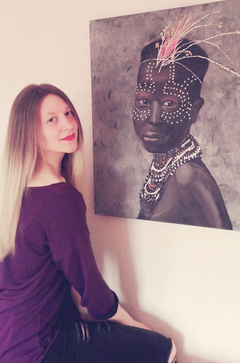 Kunst Katrin Maiwald Portrait Malerei Afrika