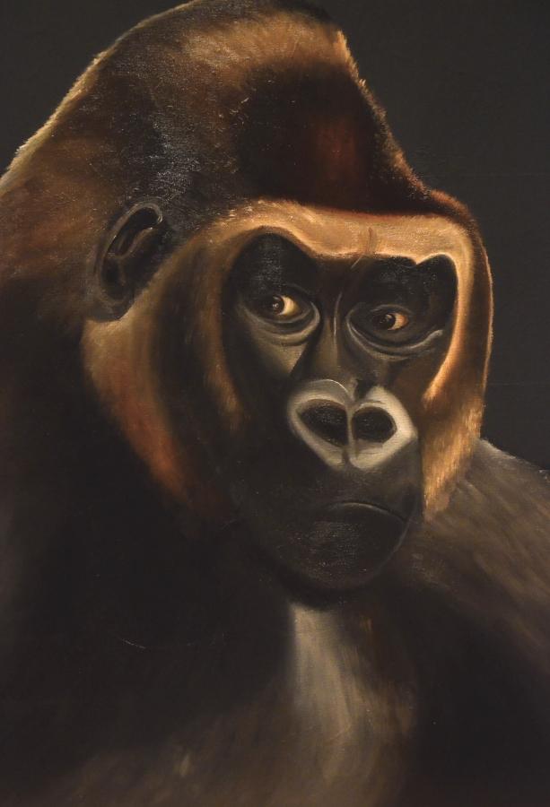 gorilla handgemalt öl
