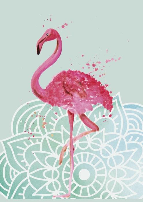Mandala Indisch Boho Flamingo FLowerpower in Hippie
