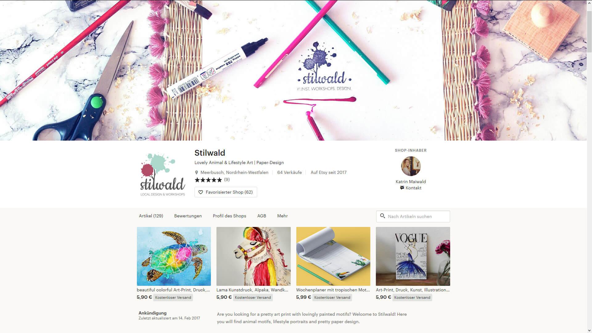 Stilwald Shop Screenshot Etsy