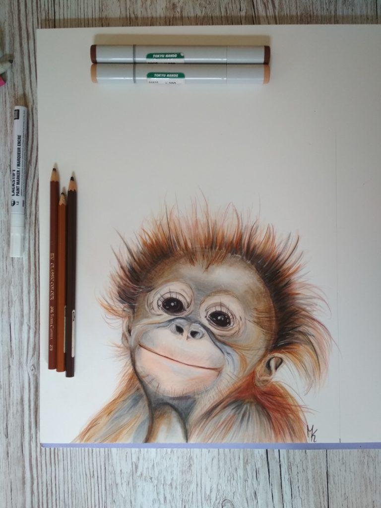 süßes Affenbaby